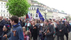 Bessmertny Polk Karlovy Vary 2017 Бессмертный полк Карловы Вары