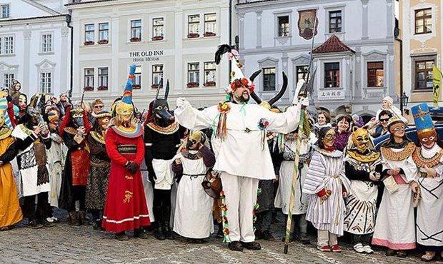 Cesky Krumlov Festival Masopust Новости Чехии Масленица Карнавал
