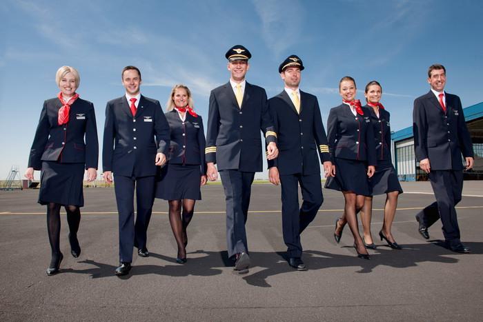 CSA Posadka Стюардессы и стюарды авиакомпании Czech Airlines