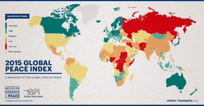 Global Peace Index 2015 Чехия попала в десятку самых безопасных стран мира