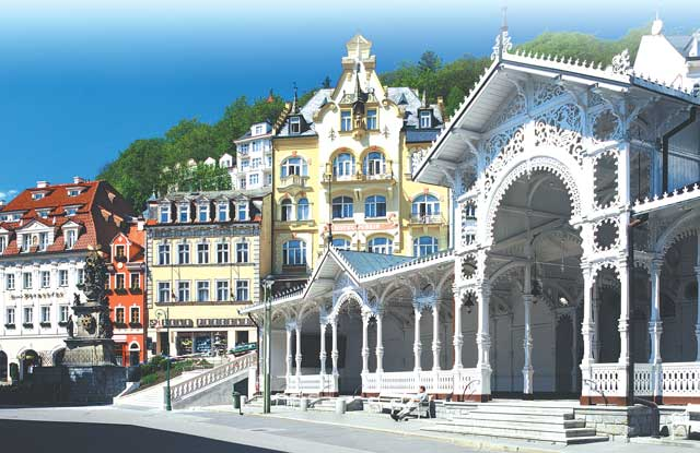 Karlovy Vary Kolonada Карловы Вары Чехия Путешествия Колонада