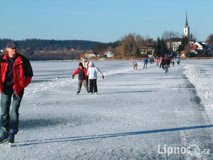 Ozero Lipno Zima Katok Новости Чехии Липно озеро