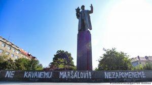Prague Pamatnik Konevu Памятник маршалу Коневу в Праге