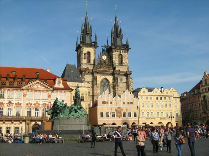 Praha Staromestske namesti Концерт в честь Карла IV на Староместской площади
