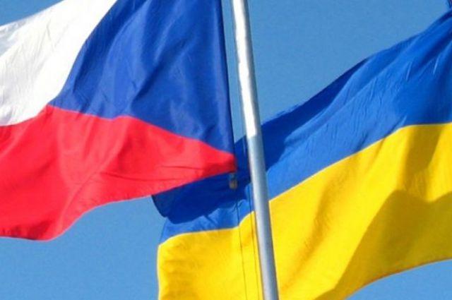 Vlajki Flagi chehiya ukraina президенты Земан Зеленский