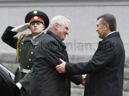 В Киеве состоялась встреча чешского и украинского президентов
