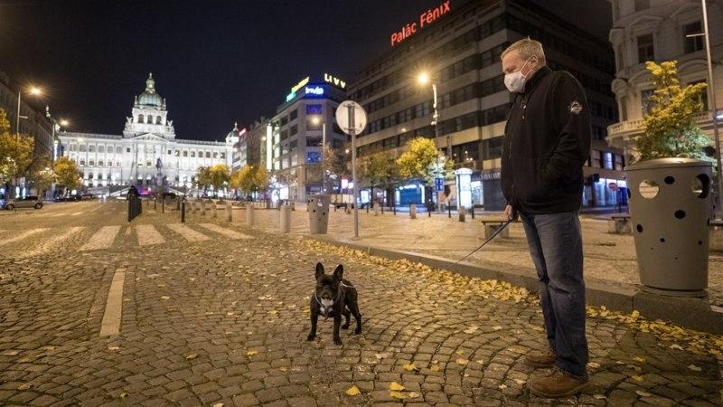 Praha Bezludna Koronavirus Novy God