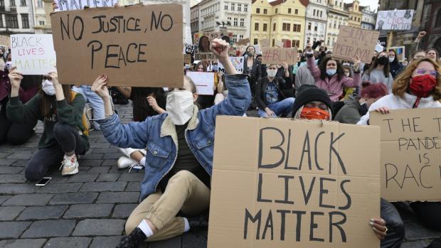 Praha Demonstrace Proti Rasizmu 2020