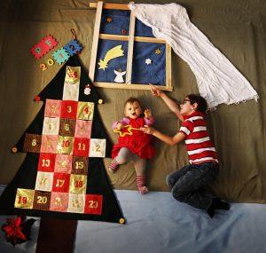 Новогодняя фотография Люции Дашковой (дети: Наталия и Оливер)